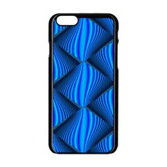 Abstract Waves Motion Psychedelic Apple Iphone 6/6s Black Enamel Case by Nexatart