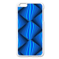 Abstract Waves Motion Psychedelic Apple Iphone 6 Plus/6s Plus Enamel White Case by Nexatart