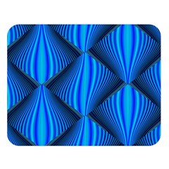 Abstract Waves Motion Psychedelic Double Sided Flano Blanket (large)