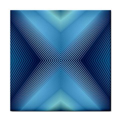 Converging Lines Blue Shades Glow Tile Coasters