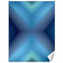 Converging Lines Blue Shades Glow Canvas 36  X 48   by Nexatart