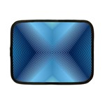 Converging Lines Blue Shades Glow Netbook Case (Small)  Front