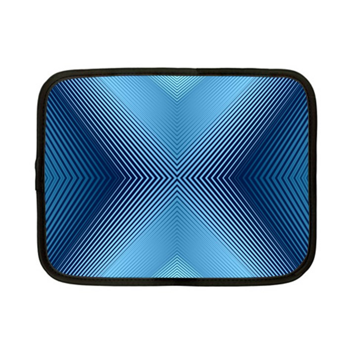 Converging Lines Blue Shades Glow Netbook Case (Small)