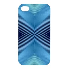 Converging Lines Blue Shades Glow Apple Iphone 4/4s Premium Hardshell Case by Nexatart