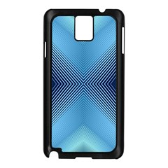 Converging Lines Blue Shades Glow Samsung Galaxy Note 3 N9005 Case (black)