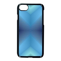 Converging Lines Blue Shades Glow Apple Iphone 7 Seamless Case (black)