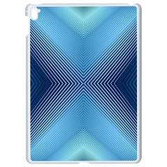 Converging Lines Blue Shades Glow Apple Ipad Pro 9 7   White Seamless Case by Nexatart