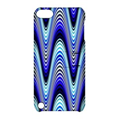 Waves Wavy Blue Pale Cobalt Navy Apple Ipod Touch 5 Hardshell Case With Stand by Nexatart
