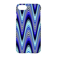 Waves Wavy Blue Pale Cobalt Navy Apple Iphone 8 Hardshell Case
