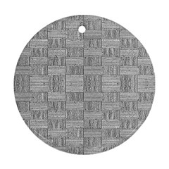 Texture Wood Grain Grey Gray Ornament (round)