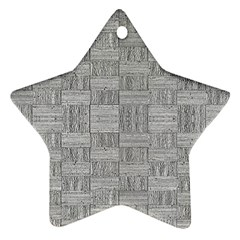 Texture Wood Grain Grey Gray Star Ornament (two Sides)