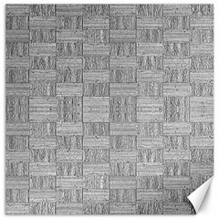 Texture Wood Grain Grey Gray Canvas 12  X 12   by Nexatart