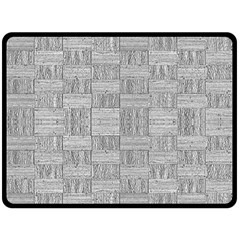 Texture Wood Grain Grey Gray Fleece Blanket (large)