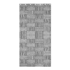 Texture Wood Grain Grey Gray Shower Curtain 36  X 72  (stall)