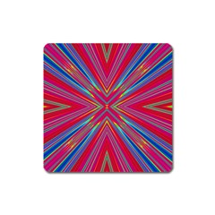 Burst Radiate Glow Vivid Colorful Square Magnet