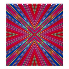 Burst Radiate Glow Vivid Colorful Shower Curtain 66  X 72  (large)