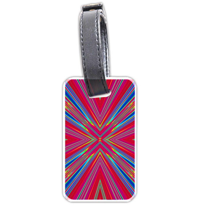 Burst Radiate Glow Vivid Colorful Luggage Tags (Two Sides)