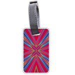 Burst Radiate Glow Vivid Colorful Luggage Tags (Two Sides) Back