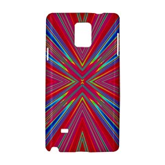 Burst Radiate Glow Vivid Colorful Samsung Galaxy Note 4 Hardshell Case by Nexatart