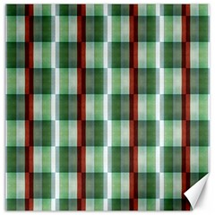 Fabric Textile Texture Green White Canvas 12  X 12