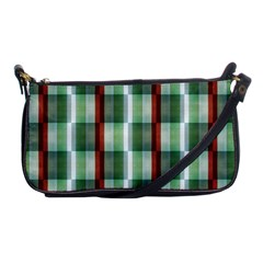 Fabric Textile Texture Green White Shoulder Clutch Bags