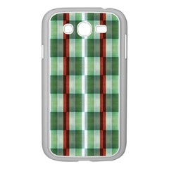 Fabric Textile Texture Green White Samsung Galaxy Grand Duos I9082 Case (white) by Nexatart