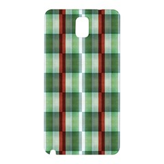 Fabric Textile Texture Green White Samsung Galaxy Note 3 N9005 Hardshell Back Case