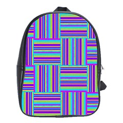 Geometric Textile Texture Surface School Bag (large) by Nexatart