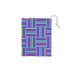 Geometric Textile Texture Surface Drawstring Pouches (xs)