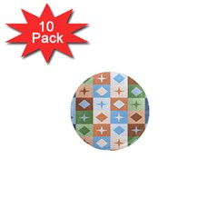 Fabric Textile Textures Cubes 1  Mini Magnet (10 Pack)  by Nexatart