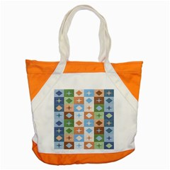 Fabric Textile Textures Cubes Accent Tote Bag by Nexatart