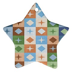 Fabric Textile Textures Cubes Star Ornament (two Sides) by Nexatart