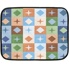 Fabric Textile Textures Cubes Double Sided Fleece Blanket (mini)