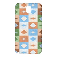 Fabric Textile Textures Cubes Samsung Galaxy Note 3 N9005 Hardshell Back Case by Nexatart