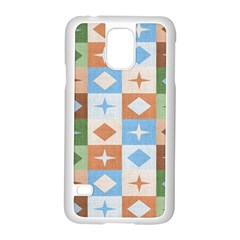 Fabric Textile Textures Cubes Samsung Galaxy S5 Case (white) by Nexatart