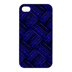 Cobalt Blue Weave Texture Apple Iphone 4/4s Hardshell Case