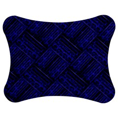 Cobalt Blue Weave Texture Jigsaw Puzzle Photo Stand (bow)