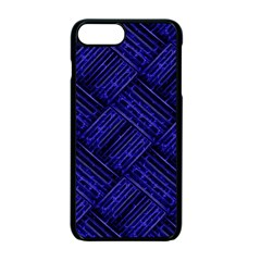 Cobalt Blue Weave Texture Apple Iphone 7 Plus Seamless Case (black)