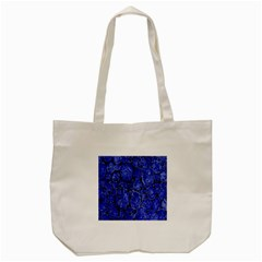 Neon Abstract Cobalt Blue Wood Tote Bag (cream) by Nexatart