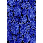 Neon Abstract Cobalt Blue Wood 5.5  x 8.5  Notebooks Back Cover Inside