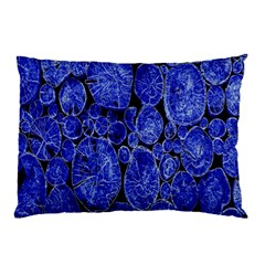 Neon Abstract Cobalt Blue Wood Pillow Case (two Sides)