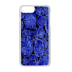 Neon Abstract Cobalt Blue Wood Apple Iphone 8 Plus Seamless Case (white)