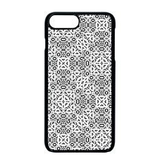 Black And White Oriental Ornate Apple Iphone 7 Plus Seamless Case (black) by dflcprints