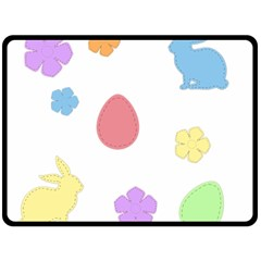 Easter Patches  Fleece Blanket (large)