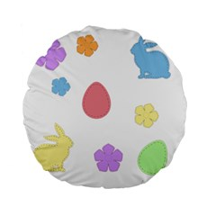 Easter Patches  Standard 15  Premium Flano Round Cushions