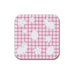 Easter Patches  Rubber Square Coaster (4 Pack)  by Valentinaart