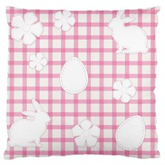Easter Patches  Large Cushion Case (two Sides) by Valentinaart