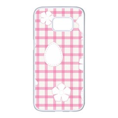 Easter Patches  Samsung Galaxy S7 Edge White Seamless Case