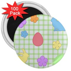 Easter Patches  3  Magnets (100 Pack) by Valentinaart