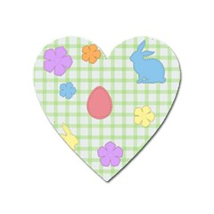 Easter Patches  Heart Magnet by Valentinaart